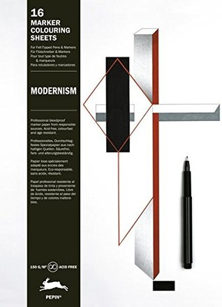 Modernism: Marker Colouring Sheets (English, Spanish, French and German Edition)