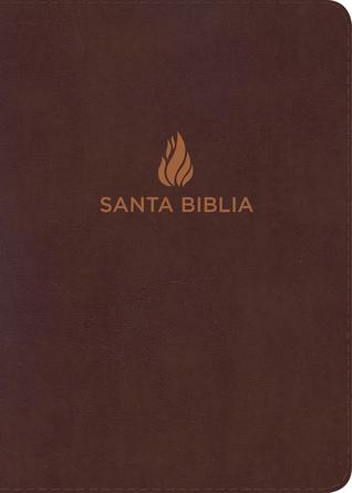 RVR 1960 Biblia Compacta Letra Grande marrón, piel fabricada con índice