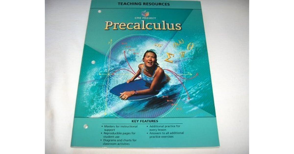 Center for Mathematics Education Project Precalculus