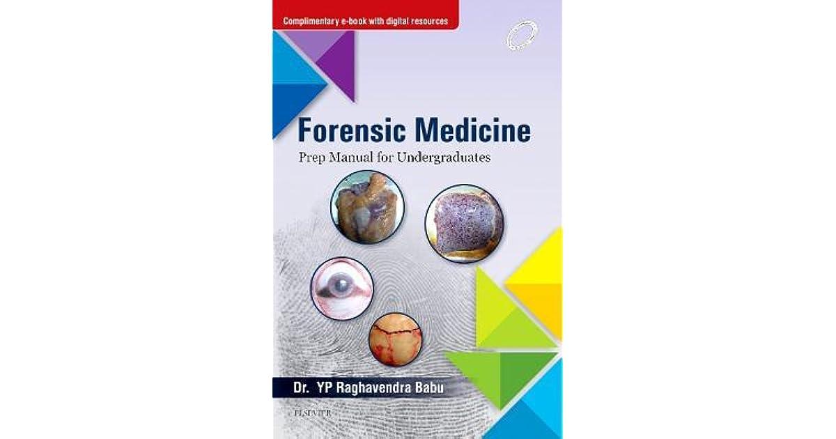 Forensic Medicine Prep Manual For Undergraduates E Book By Raghvendra Babu Yp