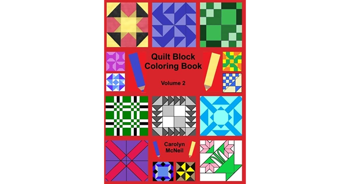 Quilt Block Coloring Book By Carolyn Mcneil