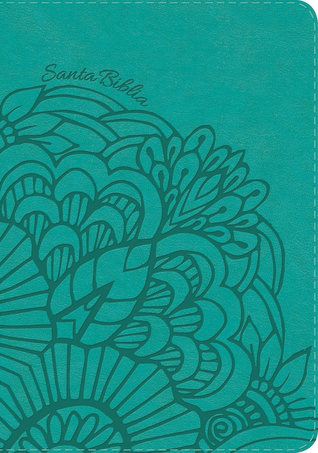 RVR 1960 Biblia Letra Gigante aqua, símil piel