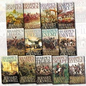 Sharpe Collection 13 Book Set (Sharpe's Tiger, Triumph, Fortress, Trafalgar, Prey, Havoc, Escape, Fury, Company, Enemy, Honor, Revenge, Devil)