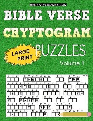 Bible Verse Cryptogram Puzzles: 365 Large Print