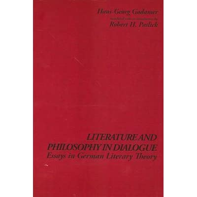 Essay About Healthy Lifestyle Literature And Philosophy In Dialogue Essays In German Literary Theory By  Hansgeorg Gadamer Example Of Essay Writing In English also Corruption Essay In English Literature And Philosophy In Dialogue Essays In German Literary  Topics For Essays In English