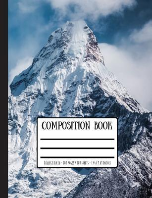 Snowy Mountains Composition Book: College Ruled - 100 Pages / 200 Sheets - 7.44 X 9.69 Inches