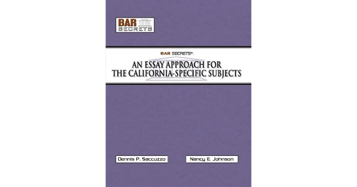 bar secrets essay approach
