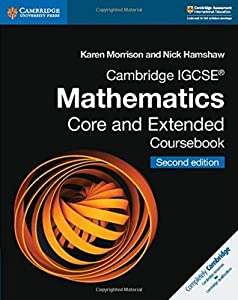Cambridge Igcse(r) Mathematics Core and Extended Coursebook