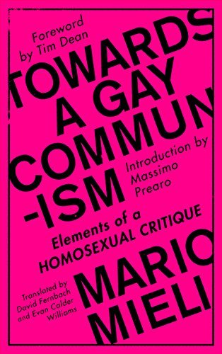 Towards a Gay Communism Elements of a Homosexual Critique