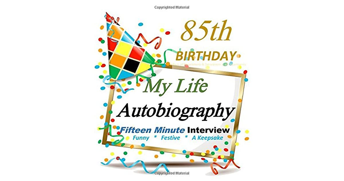 85th Birthday My Life Autobiography Party Favor Decorations In All Departments