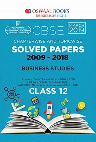 Oswaal CBSE Chapterwise Solved Paper Class 12 Business Studies (For 2019 Exam)