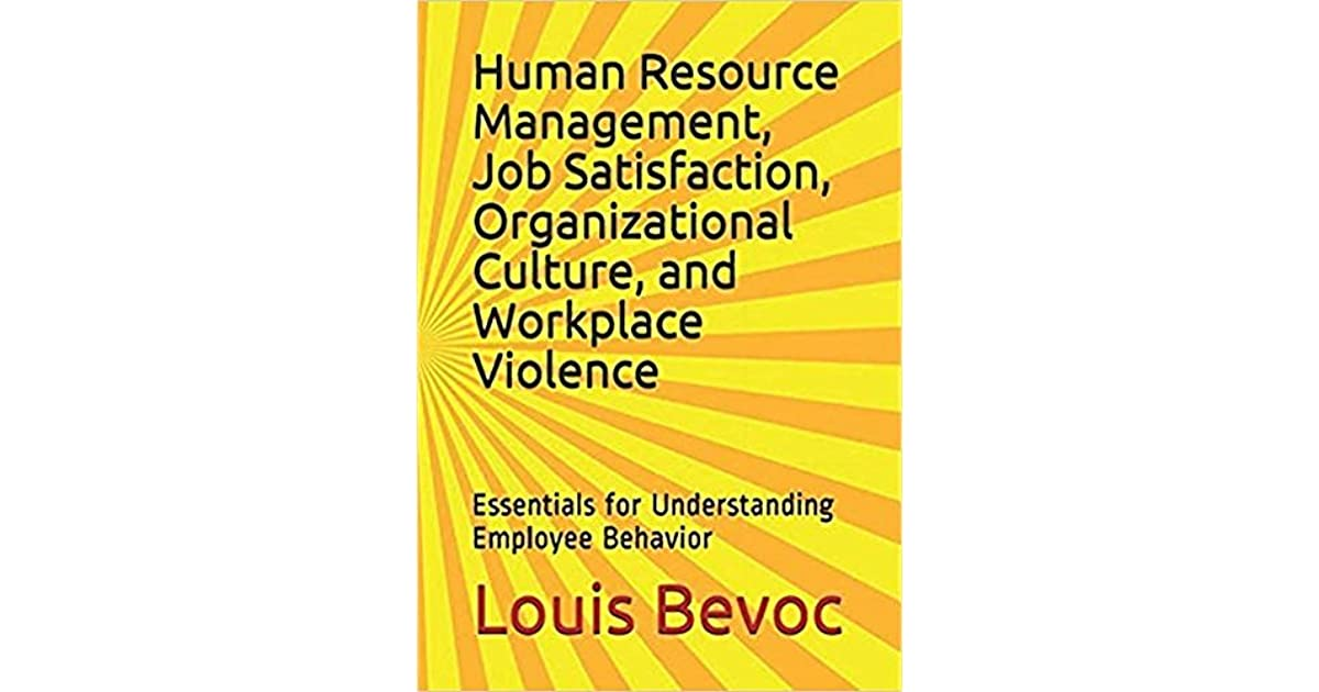 Human Resource Management, Job Satisfaction ...