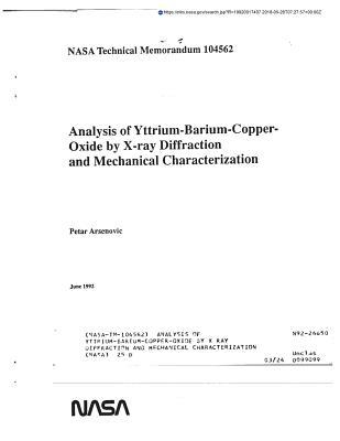 Analysis of Yttrium-Barium-Copper-Oxide by X Ray Diffraction and Mechanical Characterization