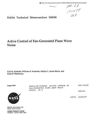 Active Control of Fan-Generated Plane Wave Noise