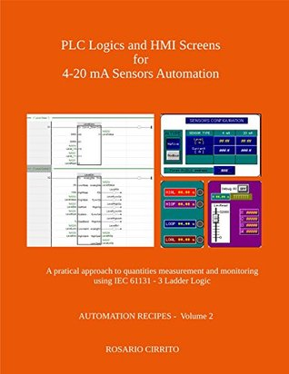 PLC Logics and HMI Screens for 4-20 mA Sensors Automation: A pratical approach to quantities measurement and monitoring using IEC 61131 - 3 Ladder Logic (AUTOMATION RECIPES Book 2)