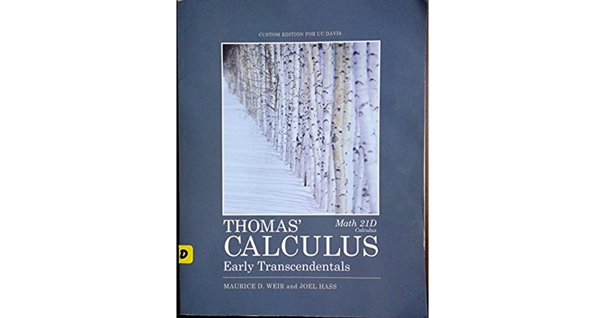 Thomas Calculus Book