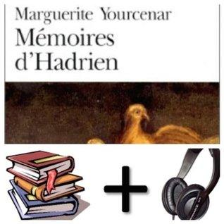 Memoires d' Hadrien Audiobook PACK [Book + 1 CD MP3]