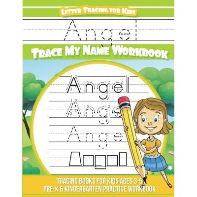 Angel Letter Tracing for Kids Trace My Name Workbook