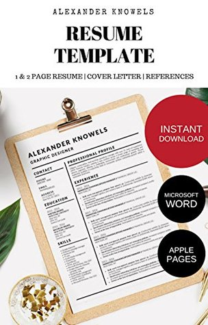 Alexander Knowels Resume CV Template for Microsoft Word and Apple Pages: INSTANT DOWNLOAD (Stand Out Shop Resume Templates Book 1)