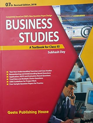 BUSINESS STUDIES A TEXTBOOK FOR CLASS-XI