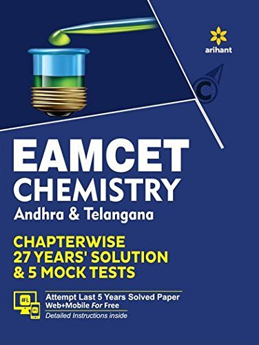 EAMCET Chemistry Andhra and Telangana Chapterwise 26 Years Solutions and 5 Mock Tests Arihant Experts