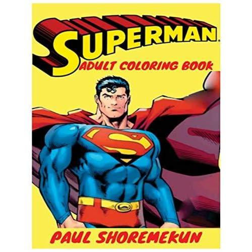 Images Of Superman Adult Coloring Book Sabadaphnecottage