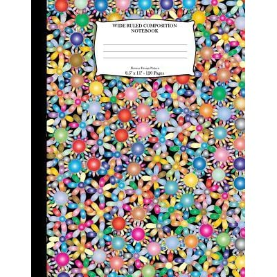Worth Listening To Floral Green 8 x 5 Paper Composition Notebook Journal