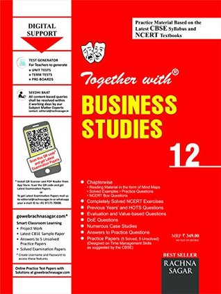 Together with CBSE/NCERT Practice Material Chapterwise for Class 12 Business Studies for 2019 Examination