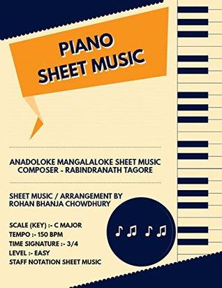 Anandoloke Mangalaloke Staff Notation Sheet Music