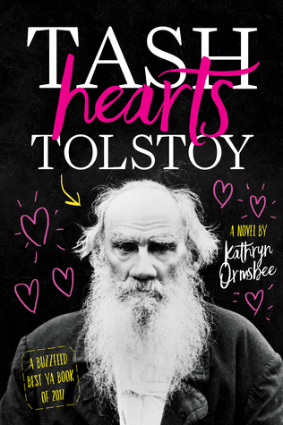Book cover for Tash Hearts Tolstoy, showing Leo Tolstoy surrounded by love hearts.