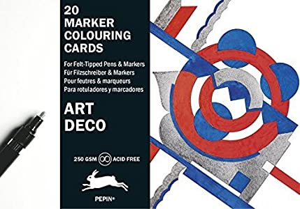 Art Deco: Marker Colouring Cards Book