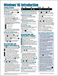 Windows 10 Introduction Quick Reference Guide (Cheat Sheet of Instructions, Tips & Shortcuts - Laminated) Updated Summer 2018