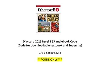 D'accord 2015 L1 SS and ebook Code [Code for downloadable textbook and Supersite]