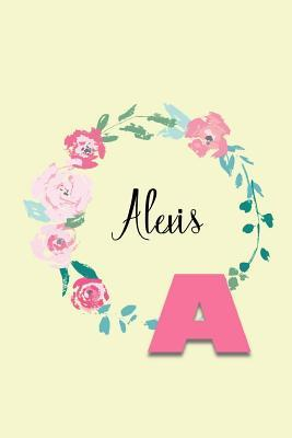 Alexis: Personalized Monogram Initial Journal - Pink Marble