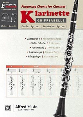 Grifftabelle für Klarinette Deutsches System [Fingering Charts for Clarinet -- Oehler System]: German / English Language Edition, Chart (Alfred's Fingering Charts Instrumental)