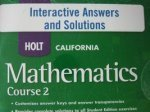Interact Answ/Sol CD CA Math 2008 C2