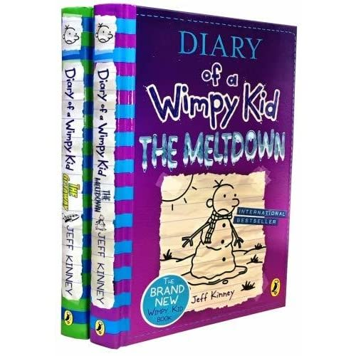 Diary Of A Wimpy Kid 2 Books Collection Set The Meltdown The Getaway By Jeff Kinney By Jeff Kinney