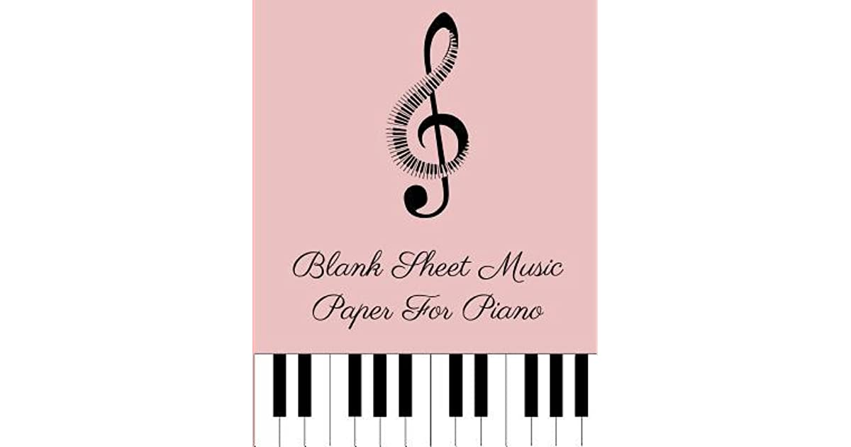 Blank Sheet Music Paper For Piano