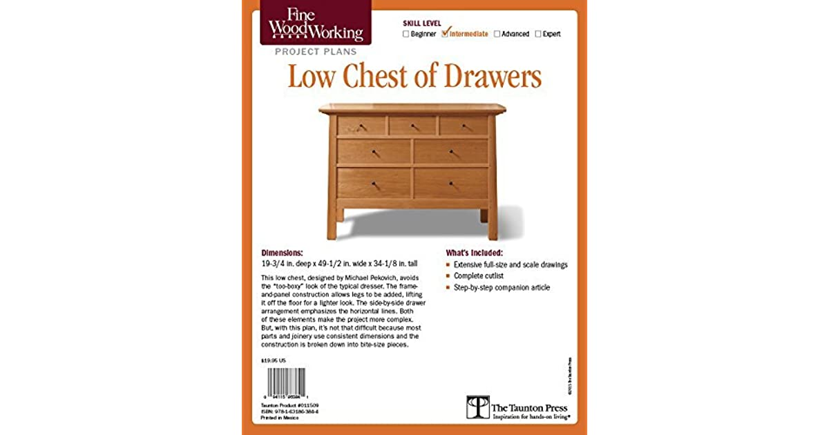 Fine Woodworking S Low Chest Of Drawers Plan By Michael Pekovich