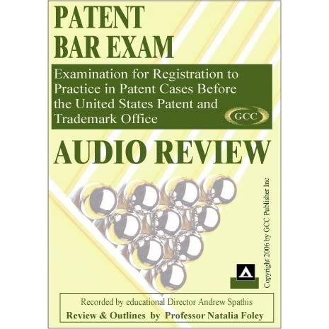 Patent Bar Exam Audio Course by Natalia Foley