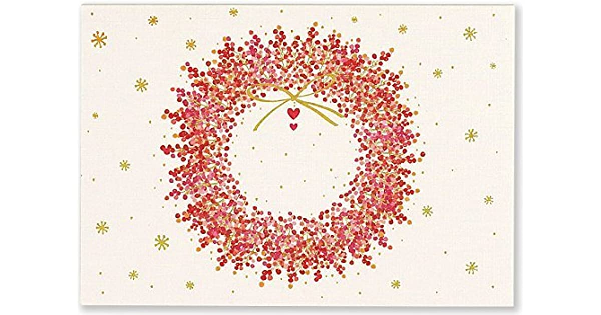 Winterberry Wreath Small Boxed Holiday Cards by Inc. Peter Pauper Press