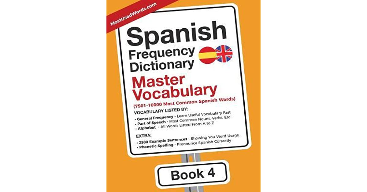 Spanish Frequency Dictionary - Master Vocabulary: 7501-10000