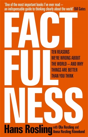 Cover for Factfulness: Ten Reasons We're Wrong About the World – and Why Things Are Better Than You Think, by Hans Rosling