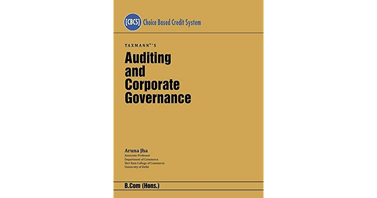 Auditing and Corporate Governance [Choice Based Credit System (CBCS