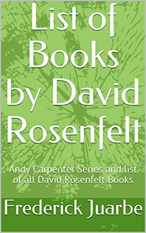 David Rosenfelt Books Reading Order: Andy Carpenter Series in order and list of all David Rosenfelt books