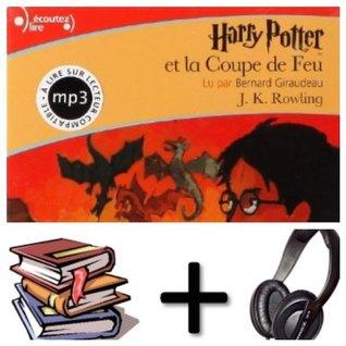 Harry Potter, IV : Harry Potter et la Coupe de Feu Audiobook PACK [ book + 3 CD MP3]