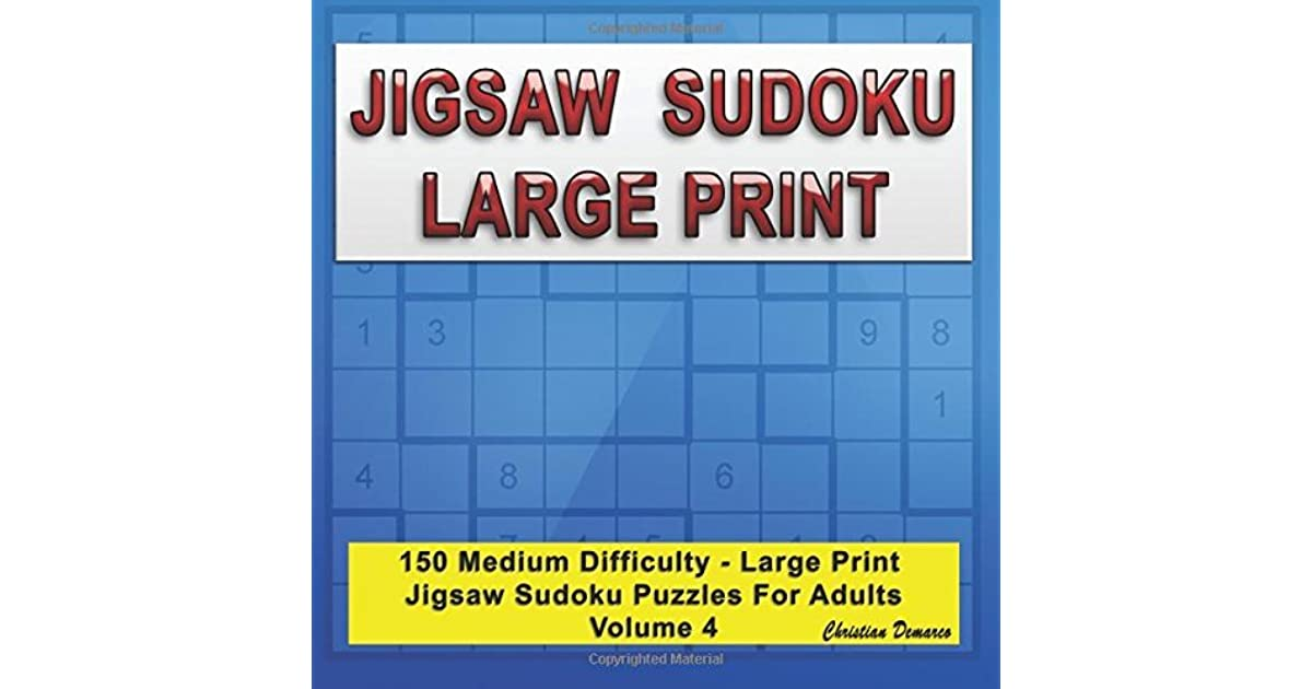 image regarding Jigsaw Sudoku Printable identify Jigsaw Sudoku High Print: 150 Medium Heavy Print Jigsaw