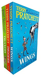 Terry Pratchett The Bromeliad Trilogy collection 3 books set - Wings The Third Book of the Nomes, Diggers The Second Book of the Nomes, Truckers The First Book of the Nomes