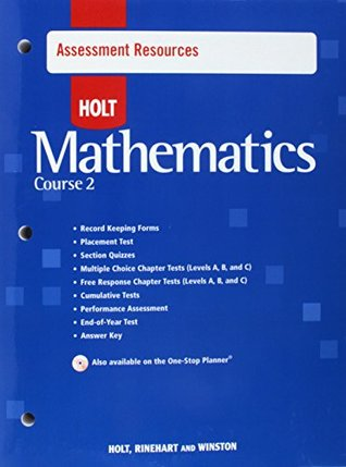 Assmt Res W/ANS Holt Math C2 2007