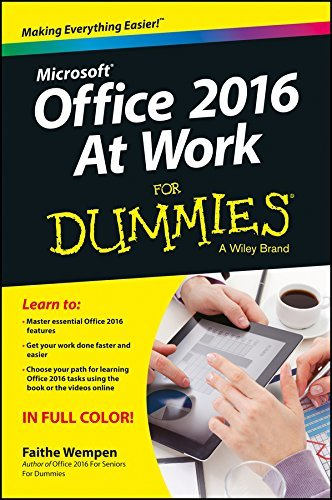 Microsoft office 2016 at work